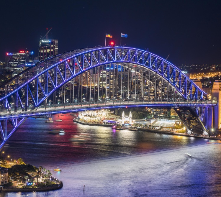 Vivid Sydney Harbour Bridge
